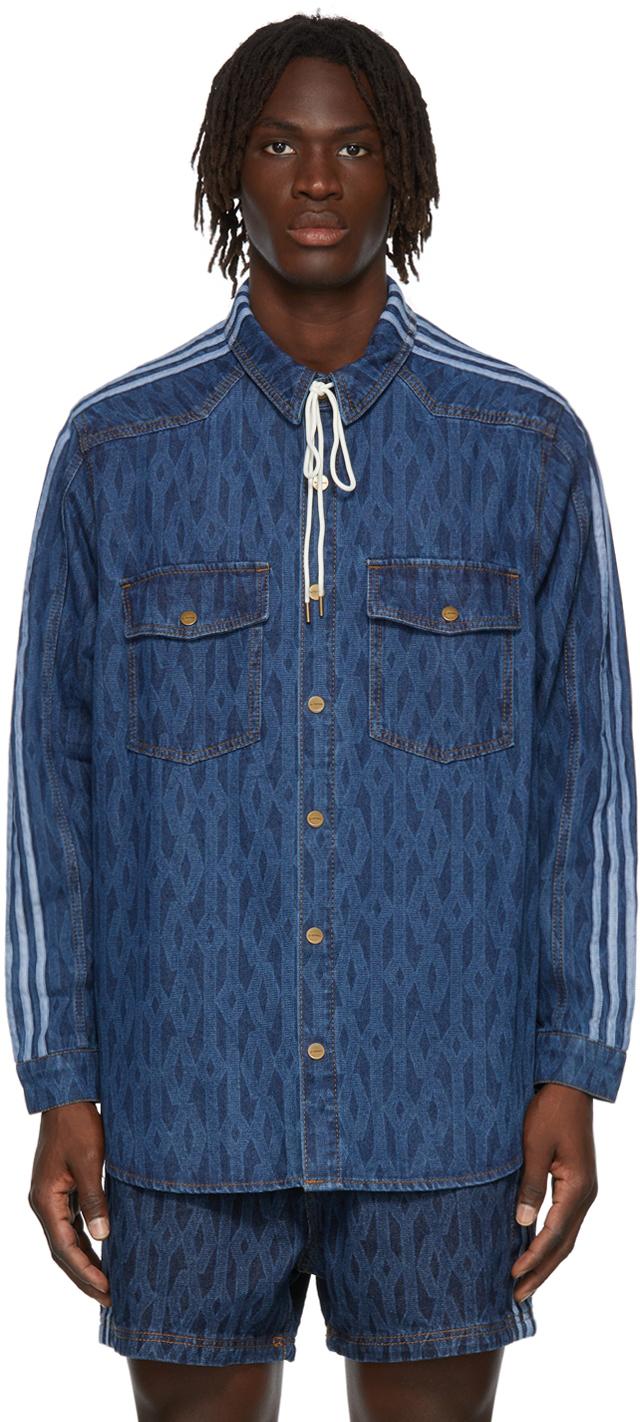 Blue Denim Monogram Shirt