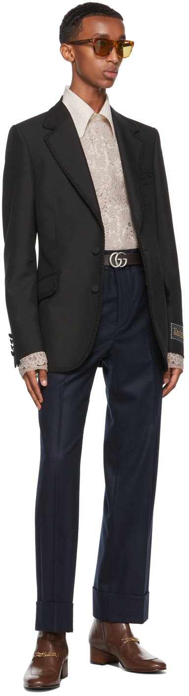 Gucci Ouverture コレクション ブラック テーラード ブレザー