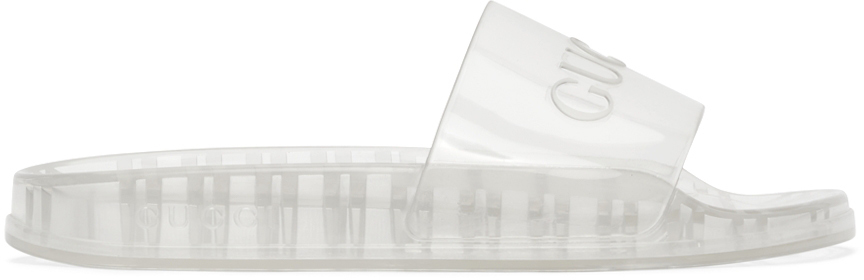 Gucci Transparent Rubber Logo Slides