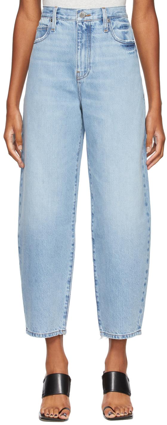 Blue Ultra High Barrel Jeans