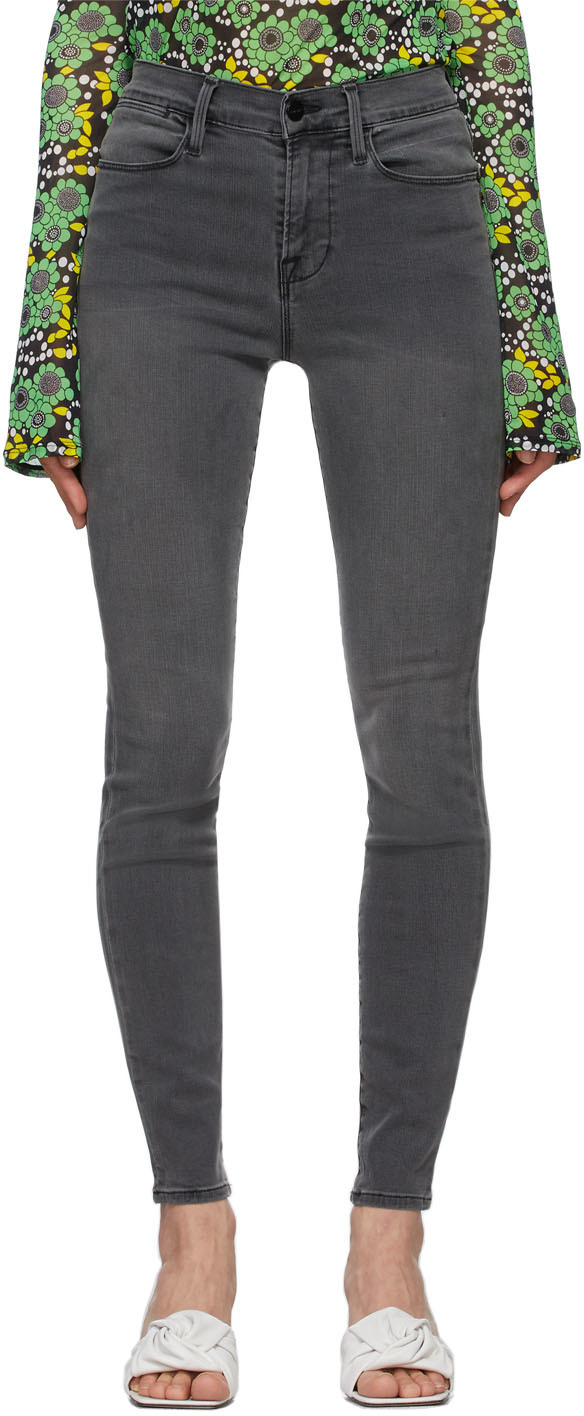 Grey 'Le High Skinny' Jeans