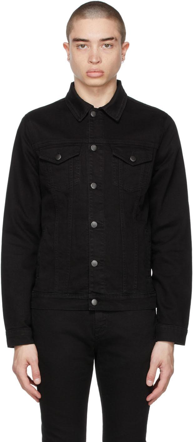 Black Faded 'L'Homme' Jacket