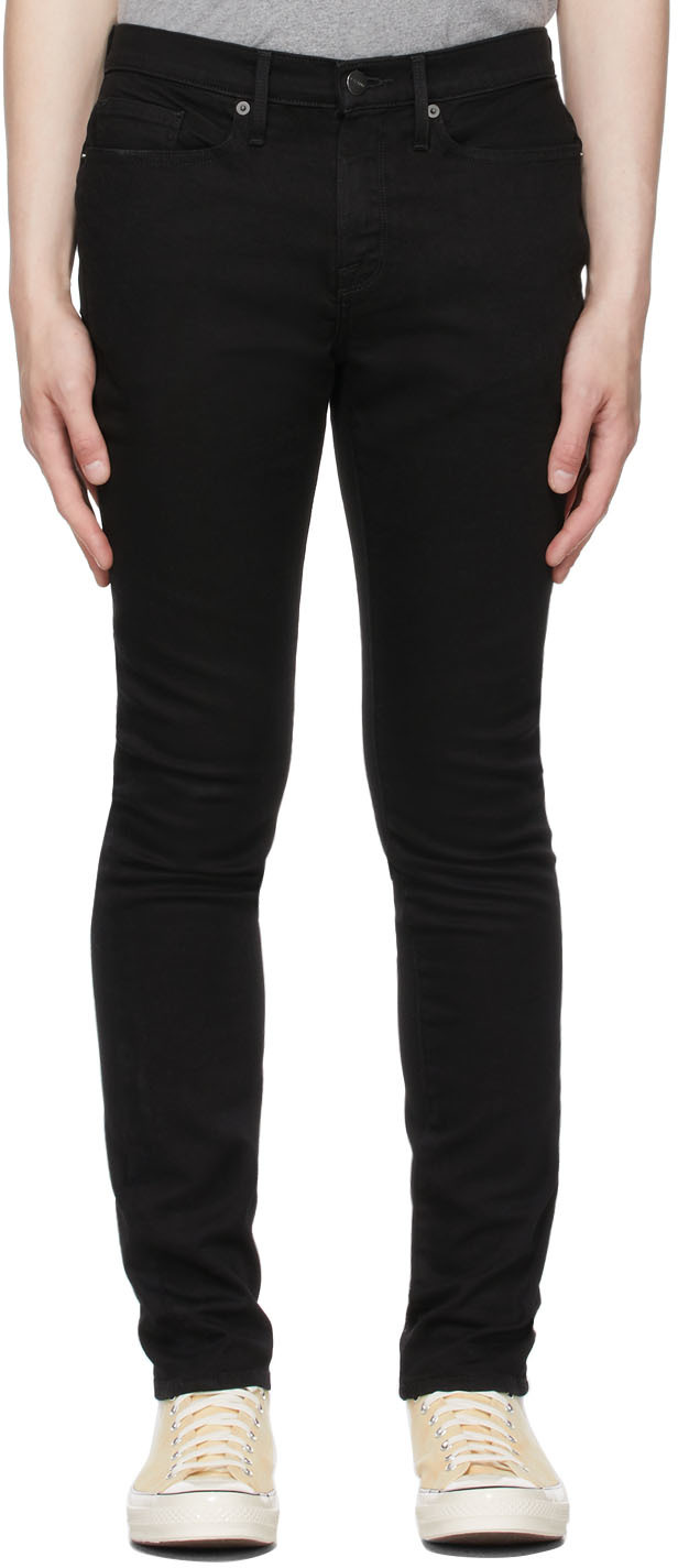 Black Stretch 'L'Homme Skinny' Jeans