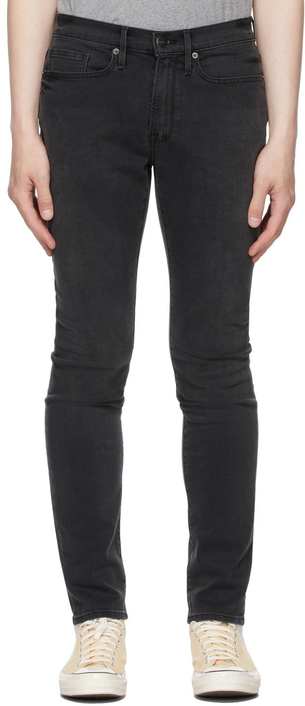 Grey Stretch 'L'Homme Skinny' Jeans
