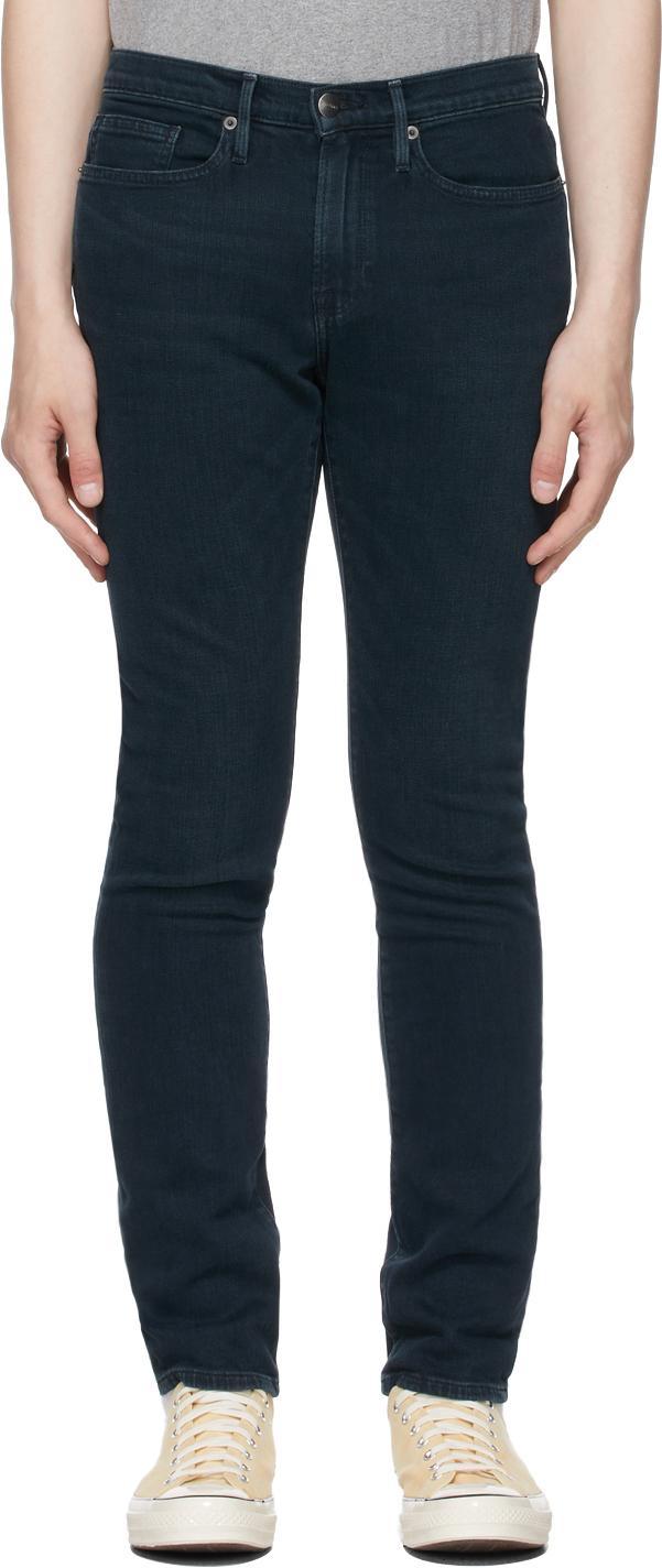Indigo Stretch 'L'Homme Skinny' Jeans