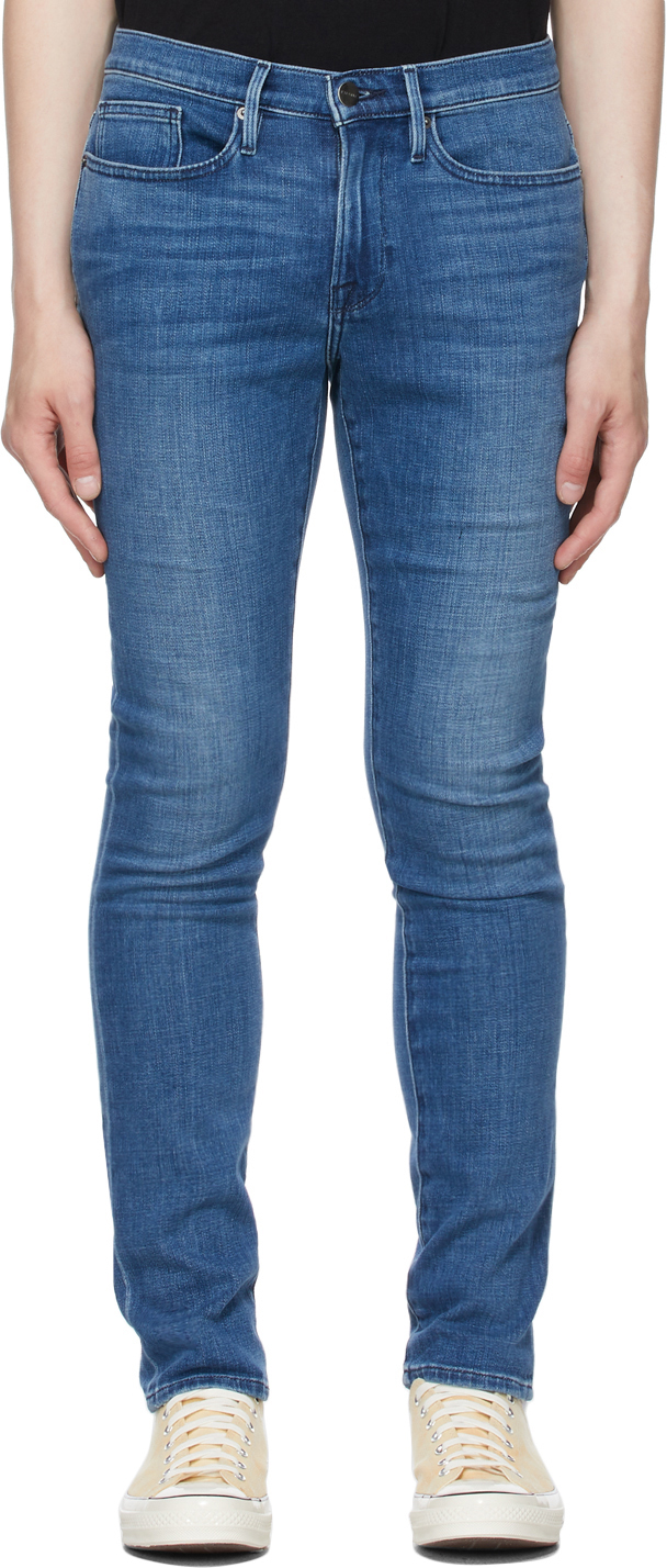 Blue Stretch 'L'Homme Skinny' Jeans