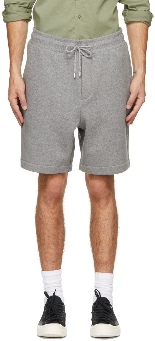Grey Fleece Logo Shorts