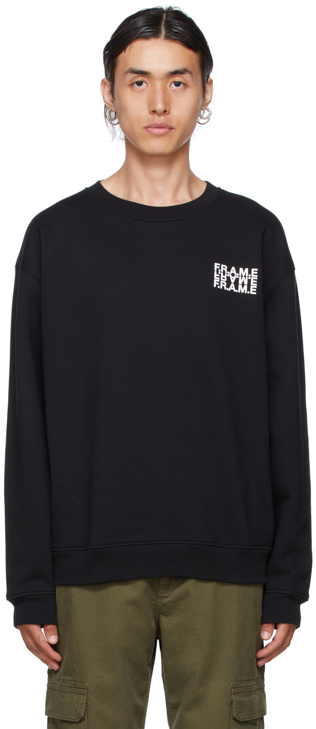 Black Graphic Sweatshirt