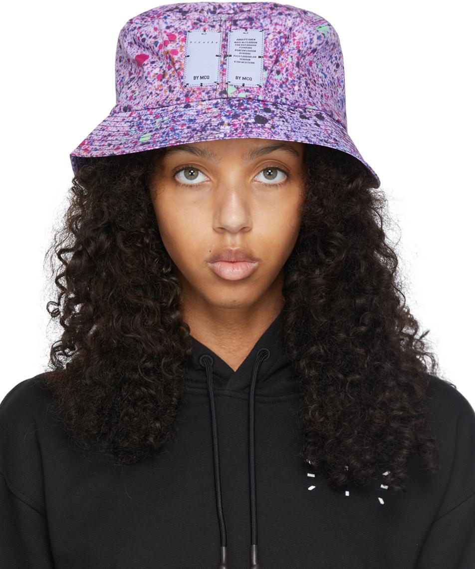 Purple Hyper Speckle Bucket Hat