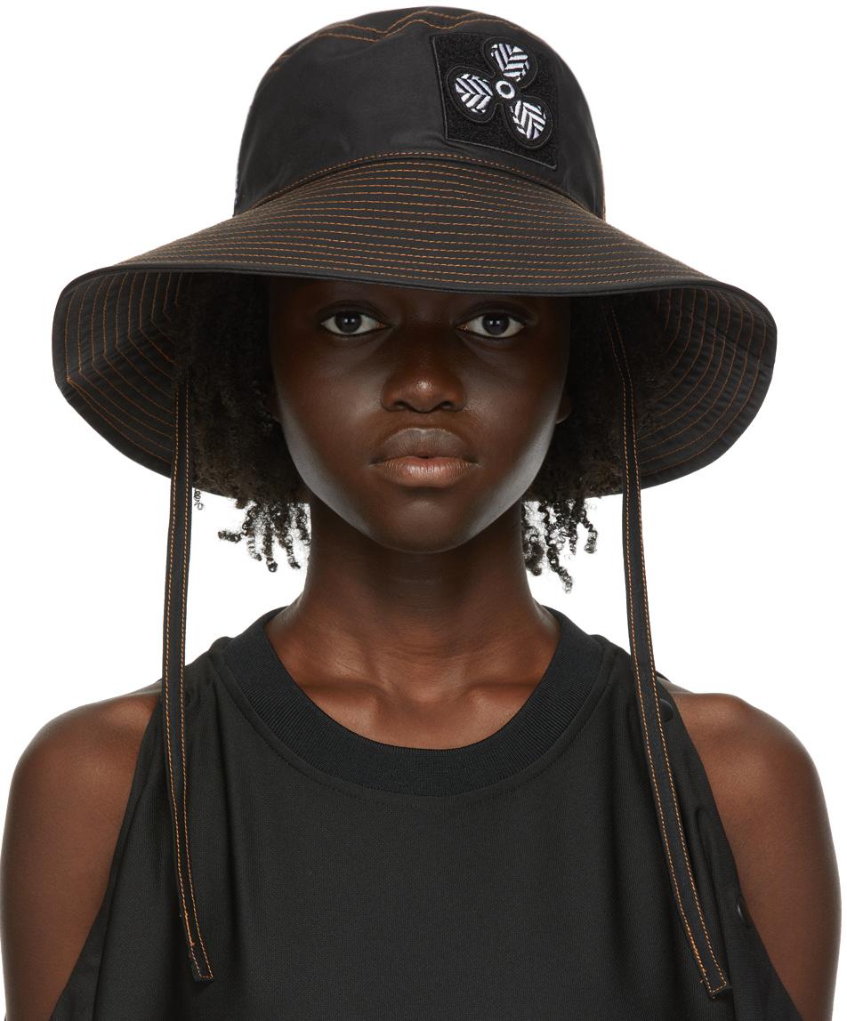 Black Coated Canvas Bucket Hat
