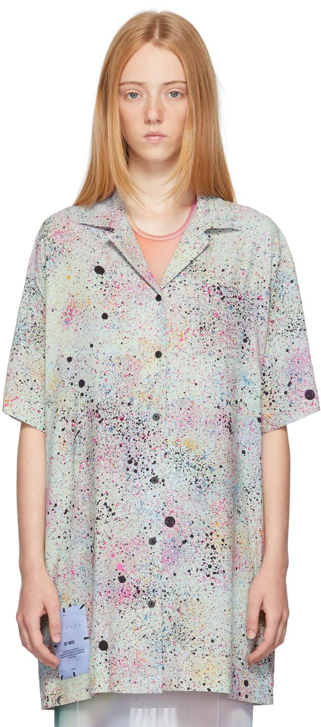 Green Light Speckle Classic Shirt Dress