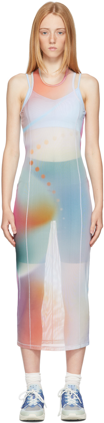 Multicolor Tie-Dye Print Maxi Dress