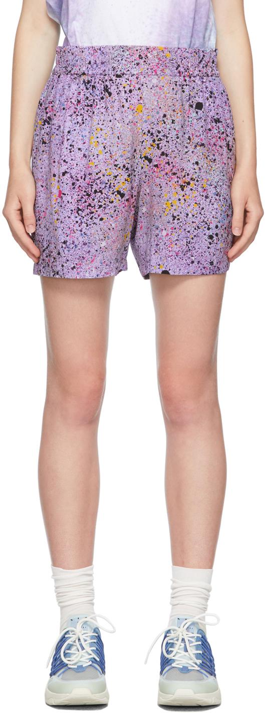 Purple Hyper Speckle Shorts