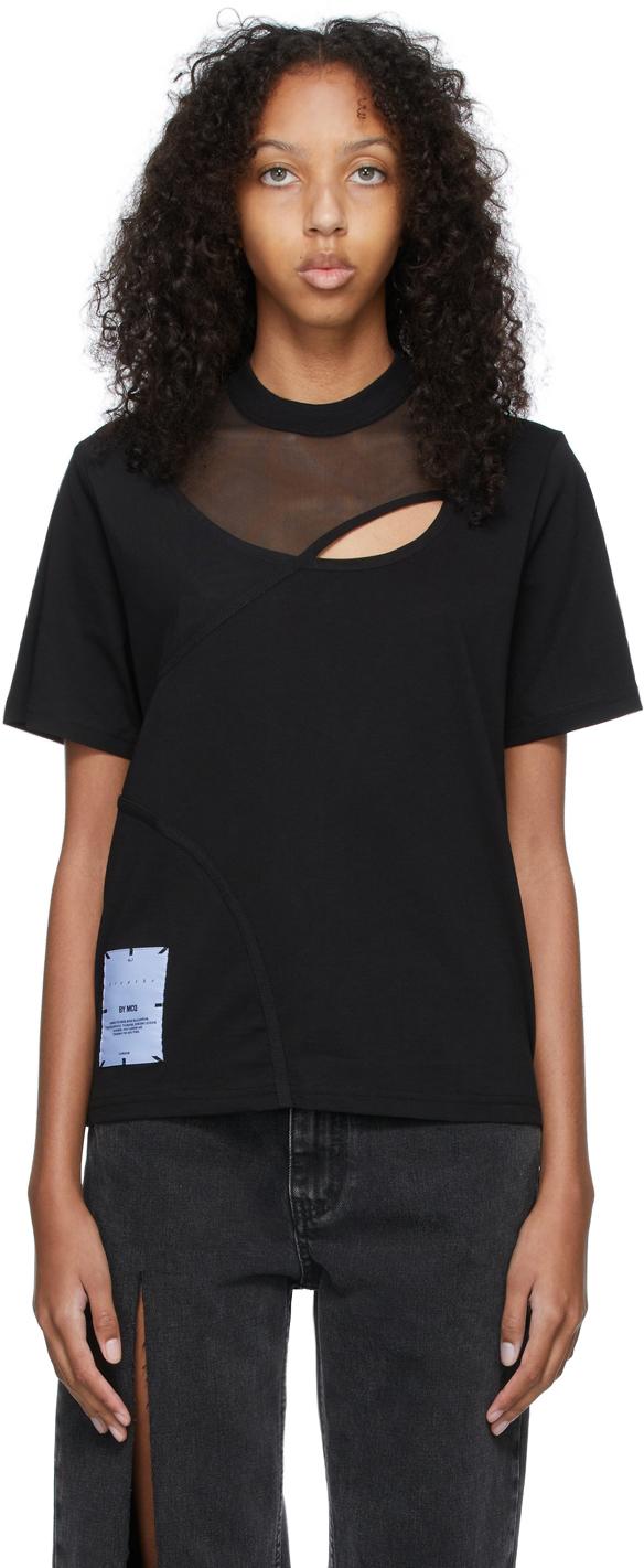 Black Twisted Regular T-Shirt