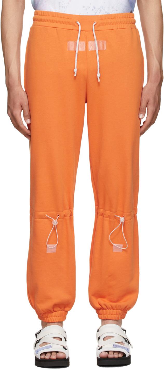 Orange Drawstring Lounge Pants