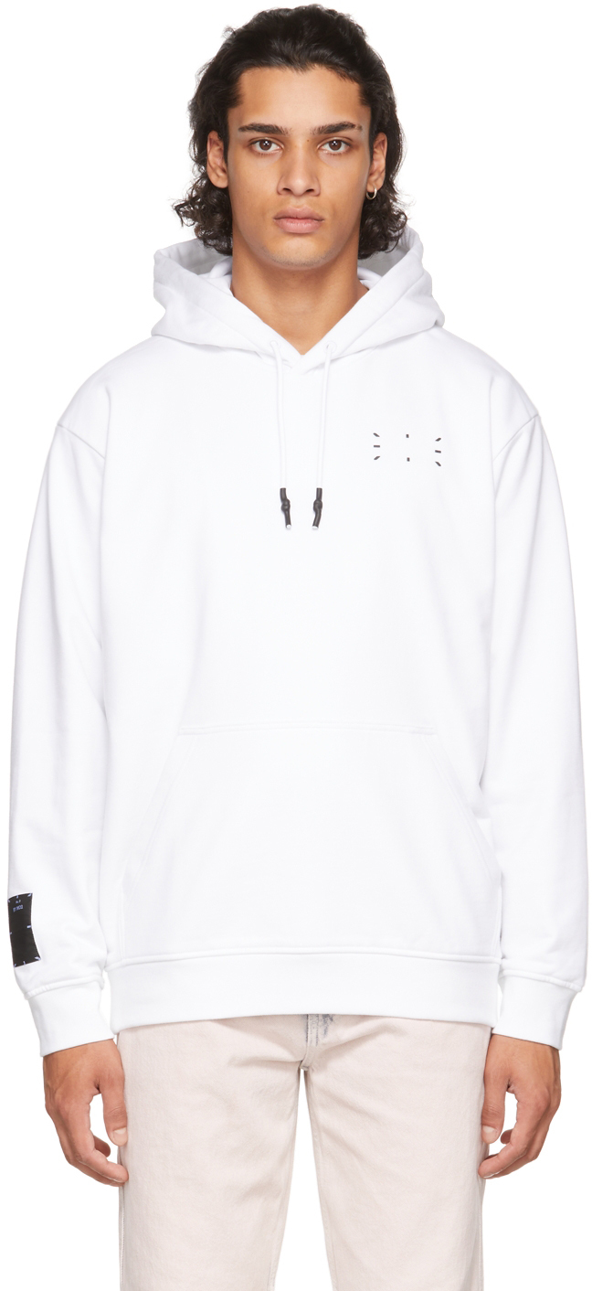White Jack Logo Relaxed Hoodie