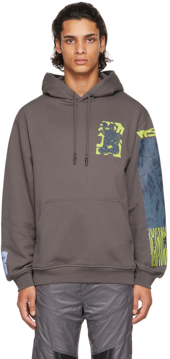 Taupe Cat Lap Relaxed Hoodie