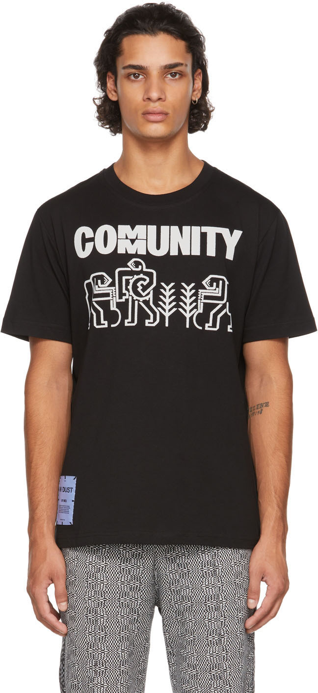 Black 'Community' Workers T-Shirt