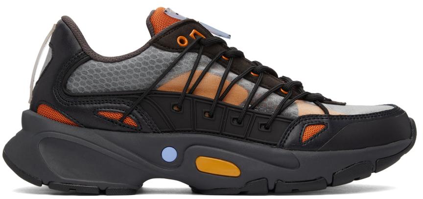 Black & Orange Aratana Sneakers