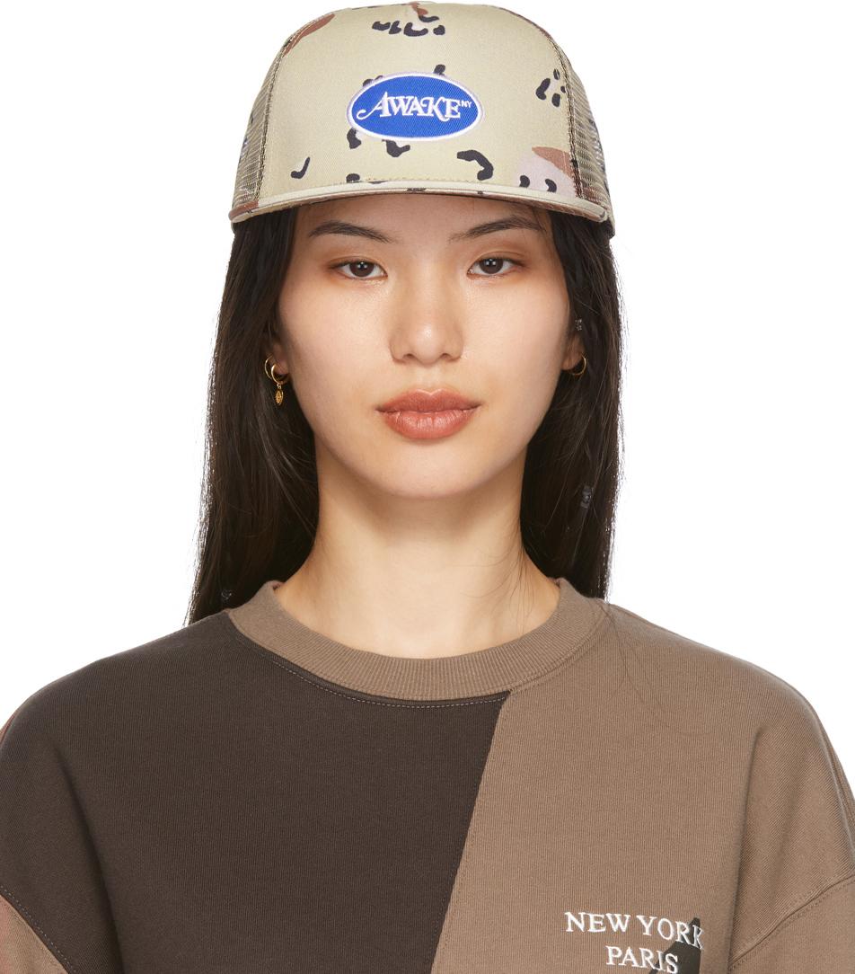 Tan Classic Logo Trucker Hat