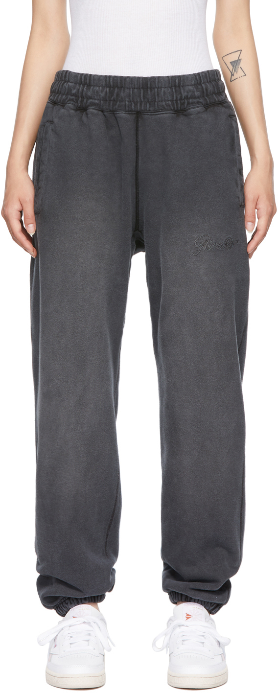 Black Sun-Bleached Logo Lounge Pants
