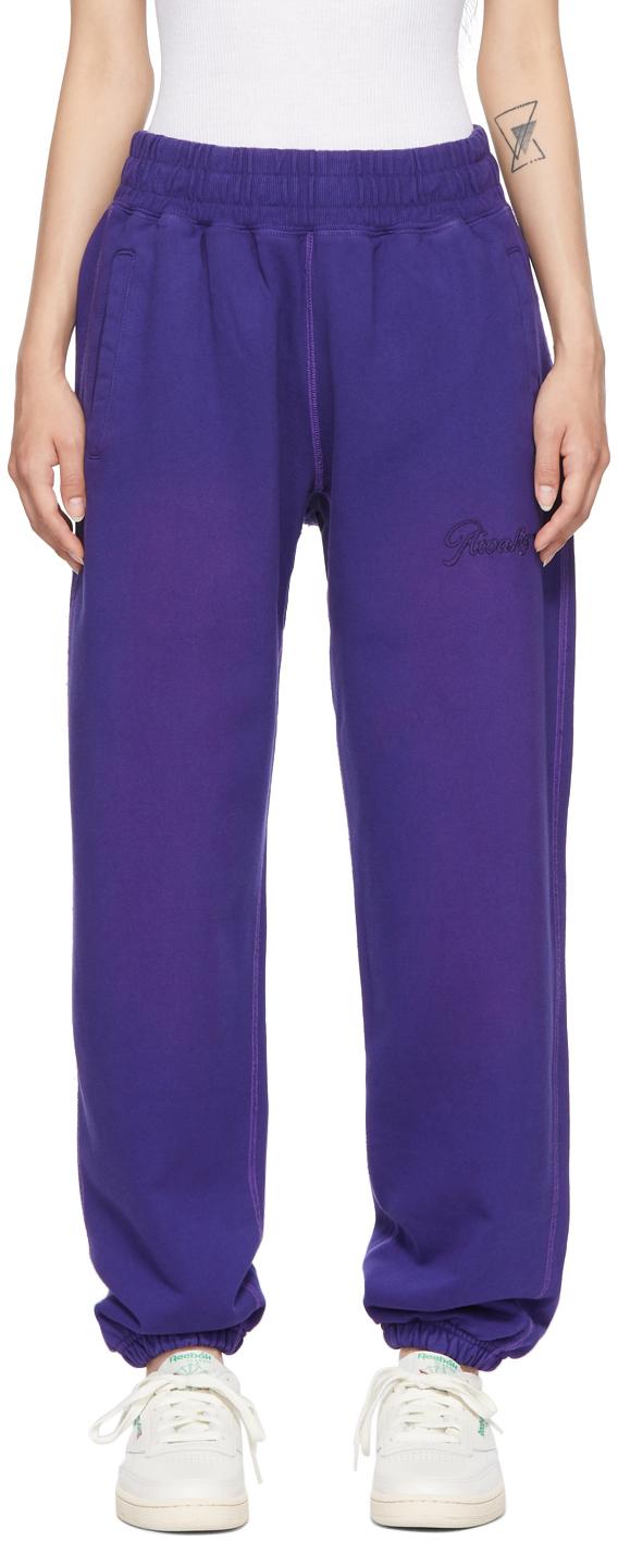 Purple Sun-Bleached Logo Lounge Pants