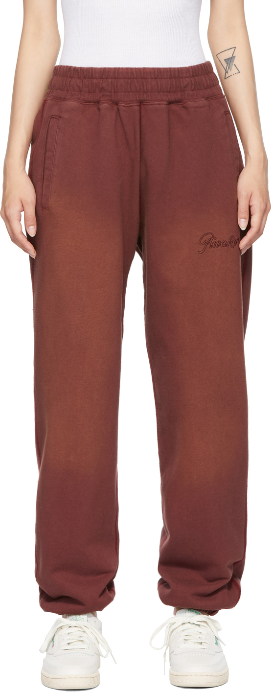 Burgundy Sun-Bleached Logo Lounge Pants
