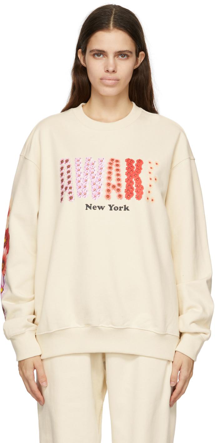 SSENSE Exclusive Off-White Bloom Logo Sweatshirt
