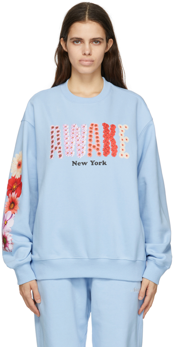 SSENSE Exclusive Blue Bloom Logo Sweatshirt