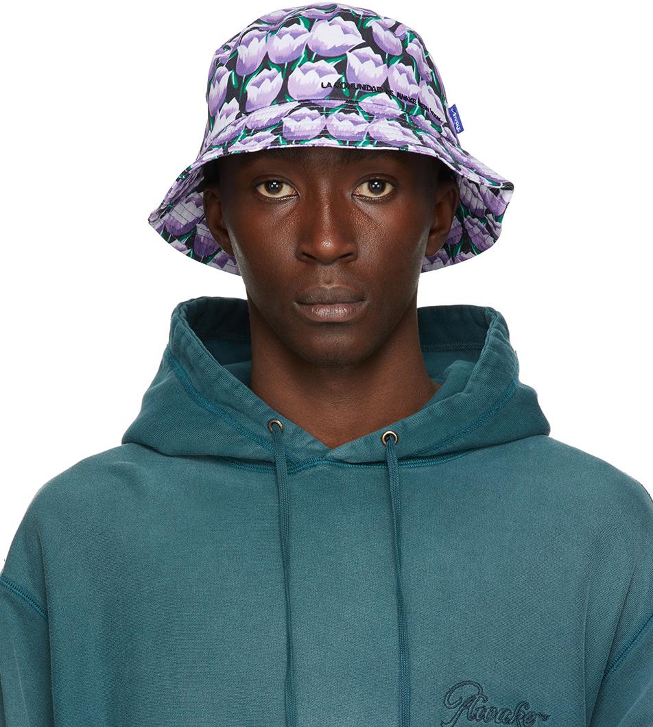 Purple Floral 'La Comunidad' Bucket Hat