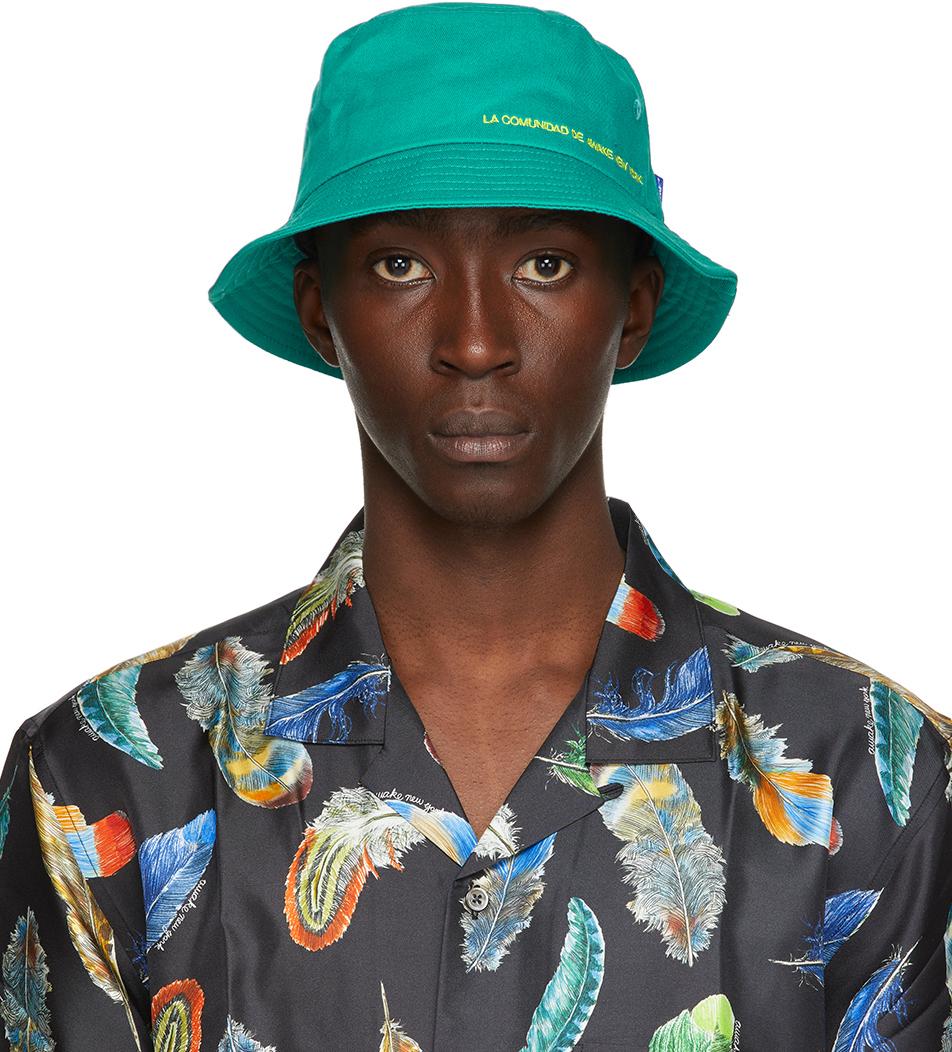 Green 'La Comunidad' Bucket Hat