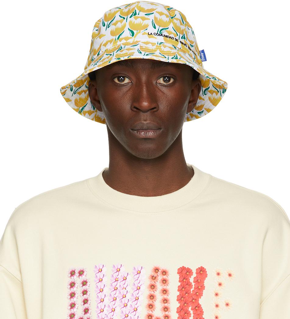 Yellow Floral 'La Comunidad' Bucket Hat