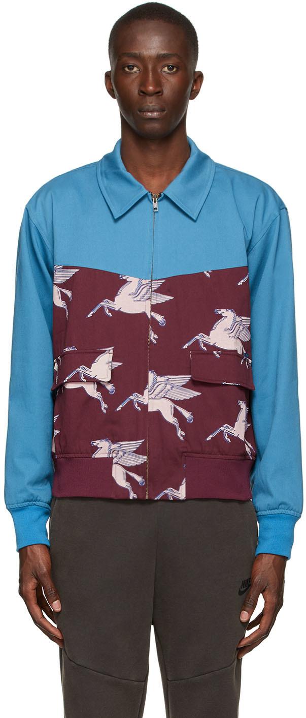 Blue & Burgundy Pegasus Jacket
