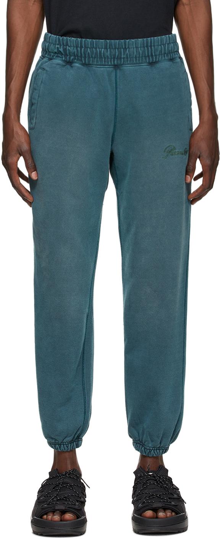Blue Sun-Bleached Logo Lounge Pants