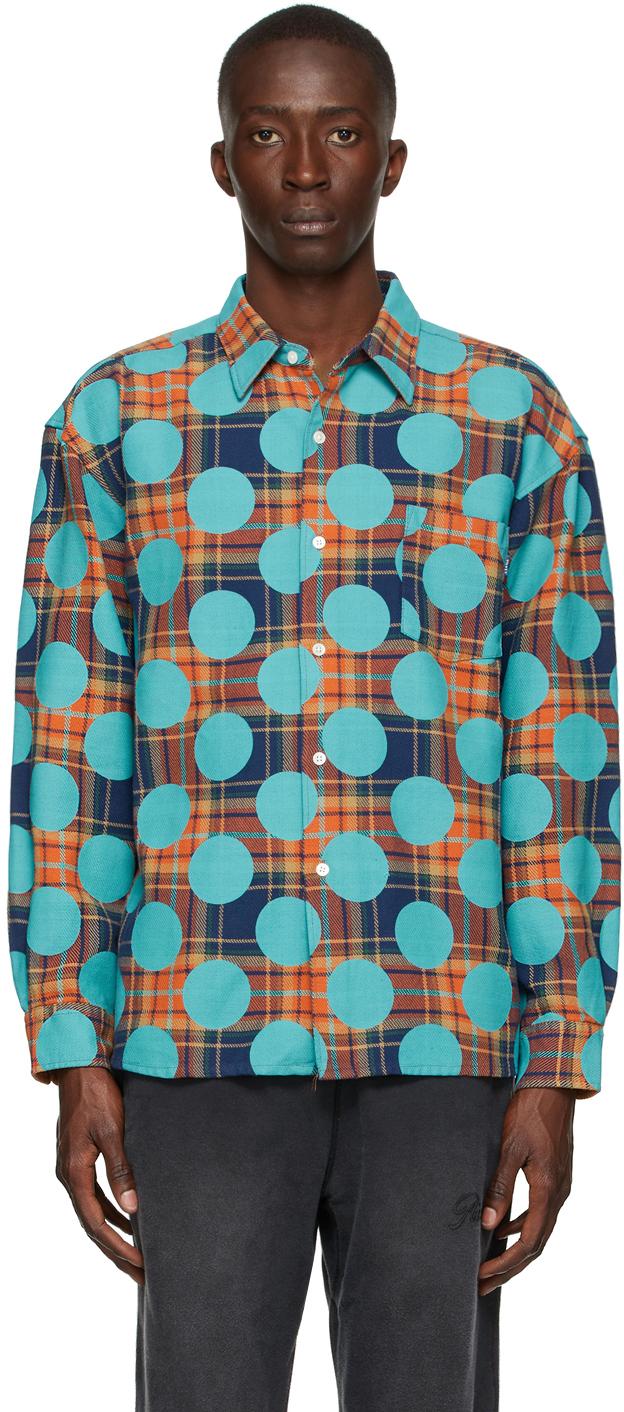 Orange Flannel Polka Dot Shirt
