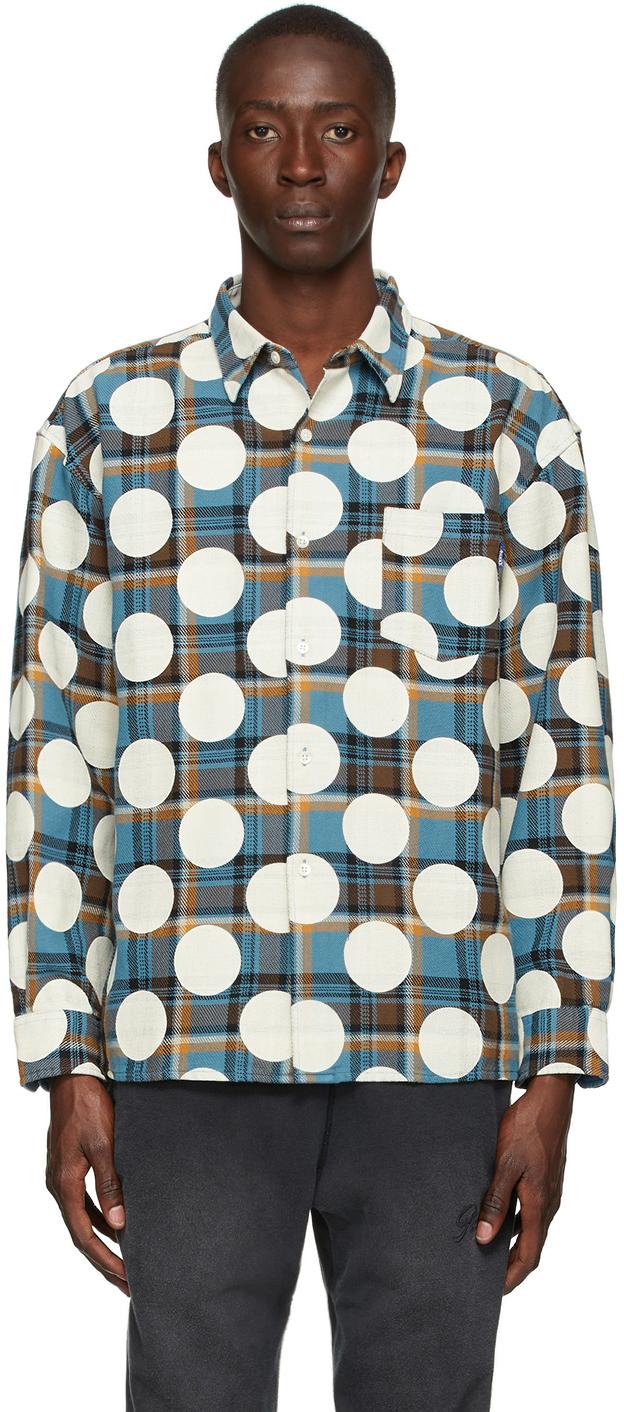 Blue Flannel Polka Dot Shirt