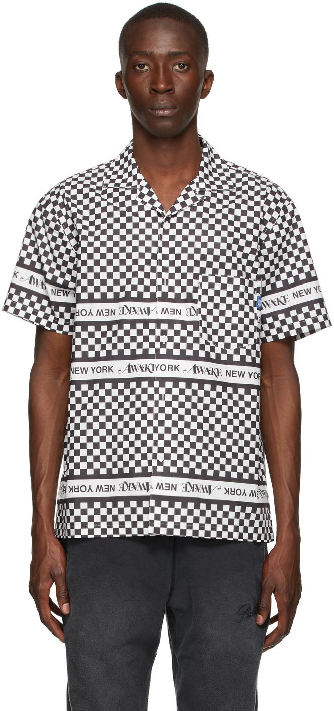 Black & White Checkerboard Logo Short Sleeve Shirt