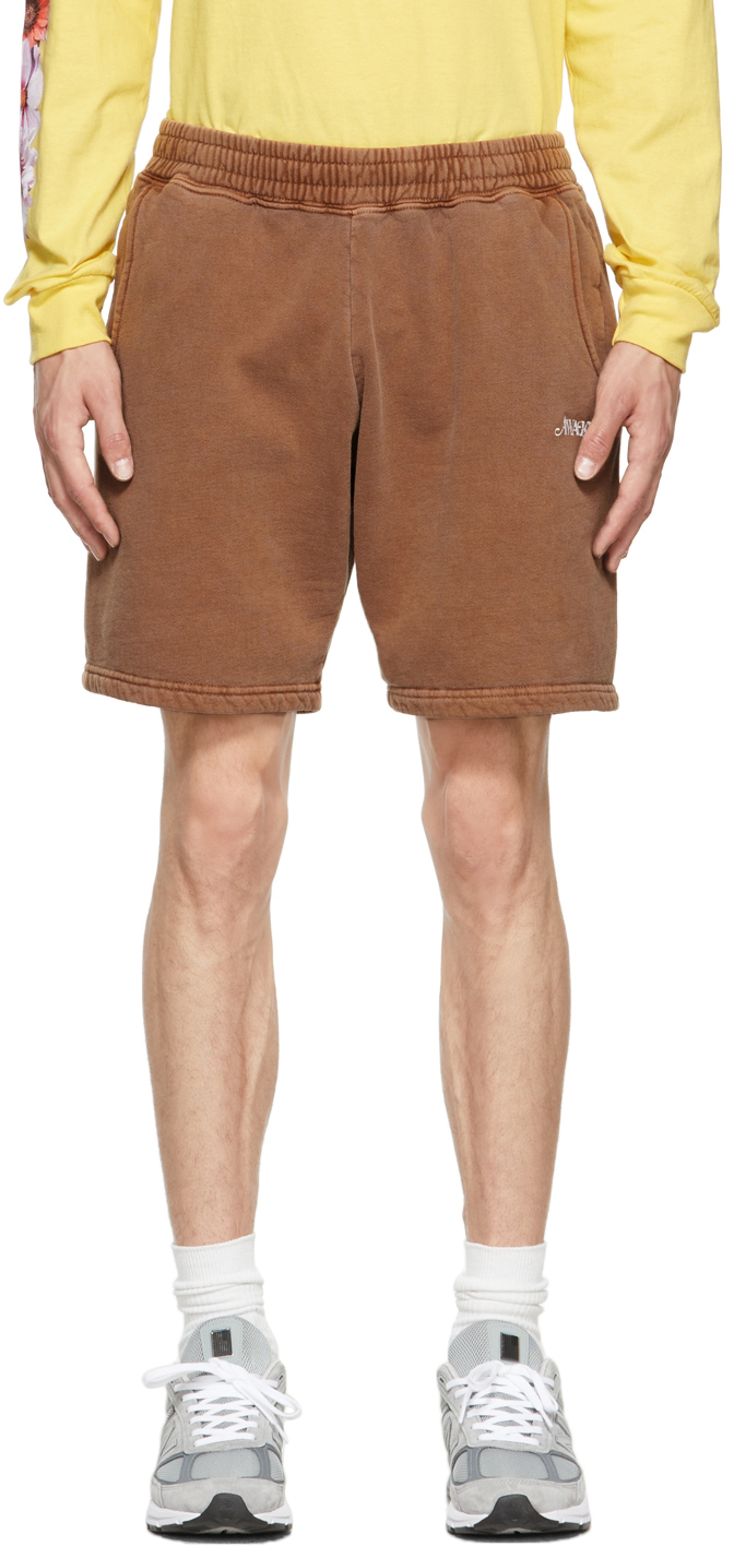 Brown Logo Shorts
