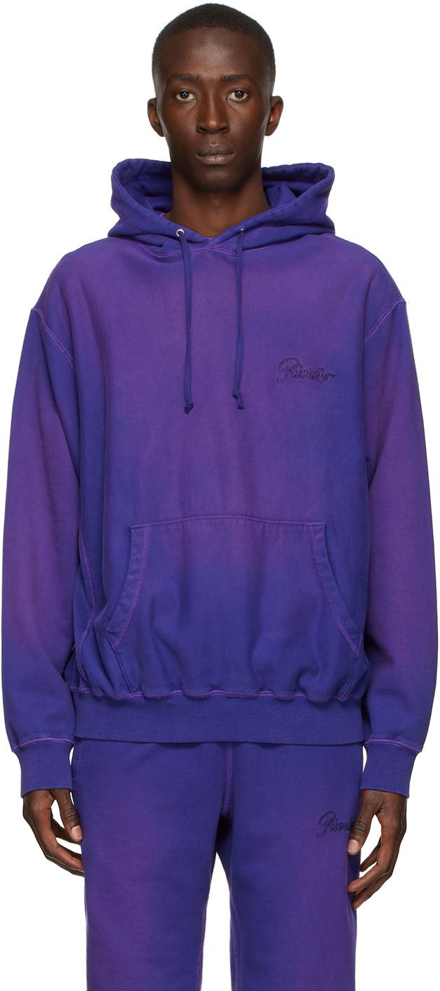 Purple Sun-Bleached Logo Hoodie
