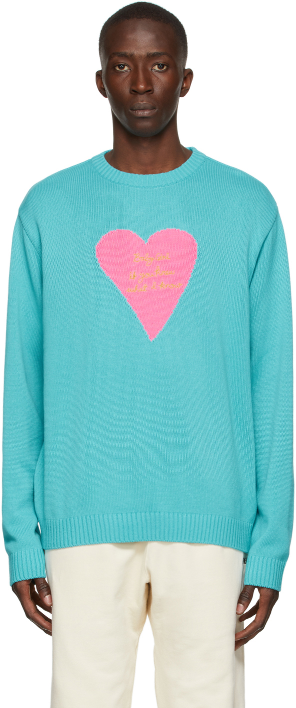 Blue Pullover 'Baby Girl' Sweater