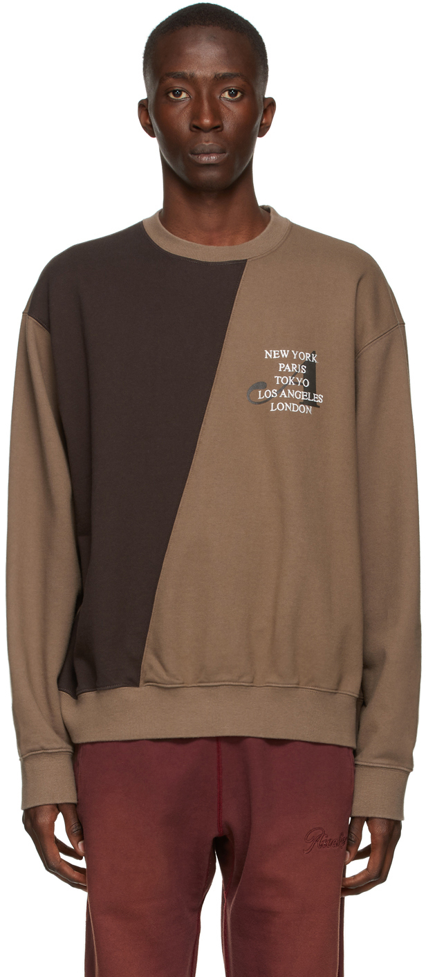 Brown Two-Tone Split City Sweatshirt