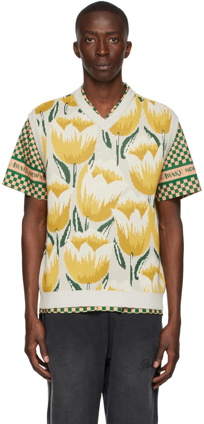 Off-White Knit Tulip Vest