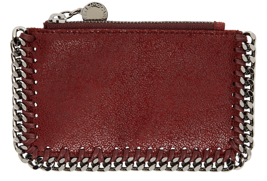 Red Falabella Zipped Card Holder