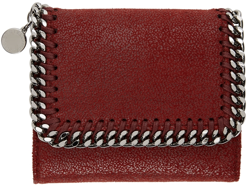 Red Small Falabella Flap Wallet