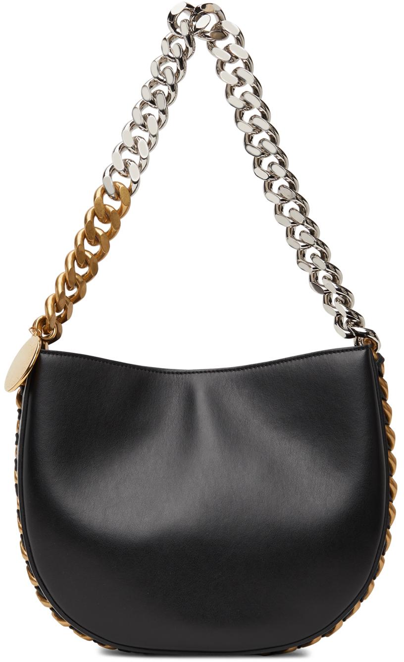 Black Frayme Medium Shoulder Bag
