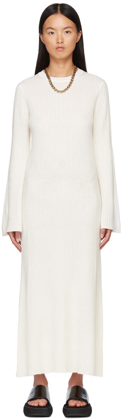 White Larga Dress