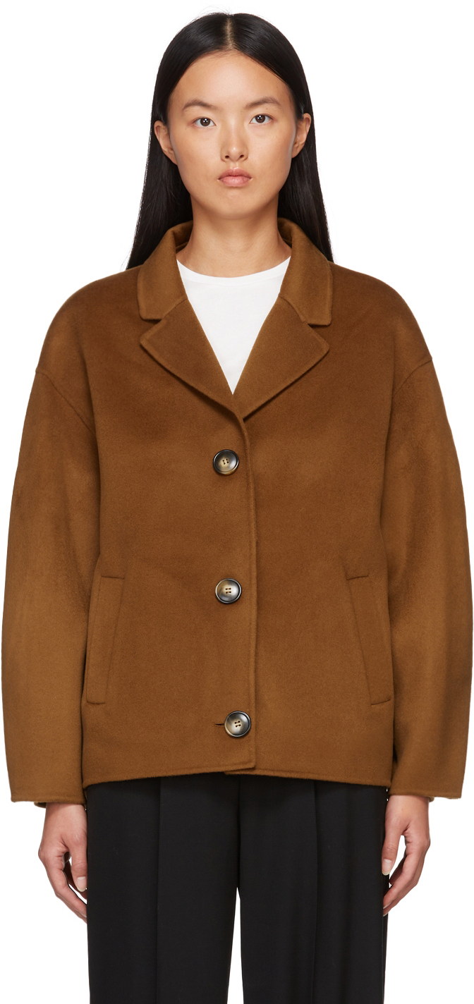 Tan Moho Cropped Coat