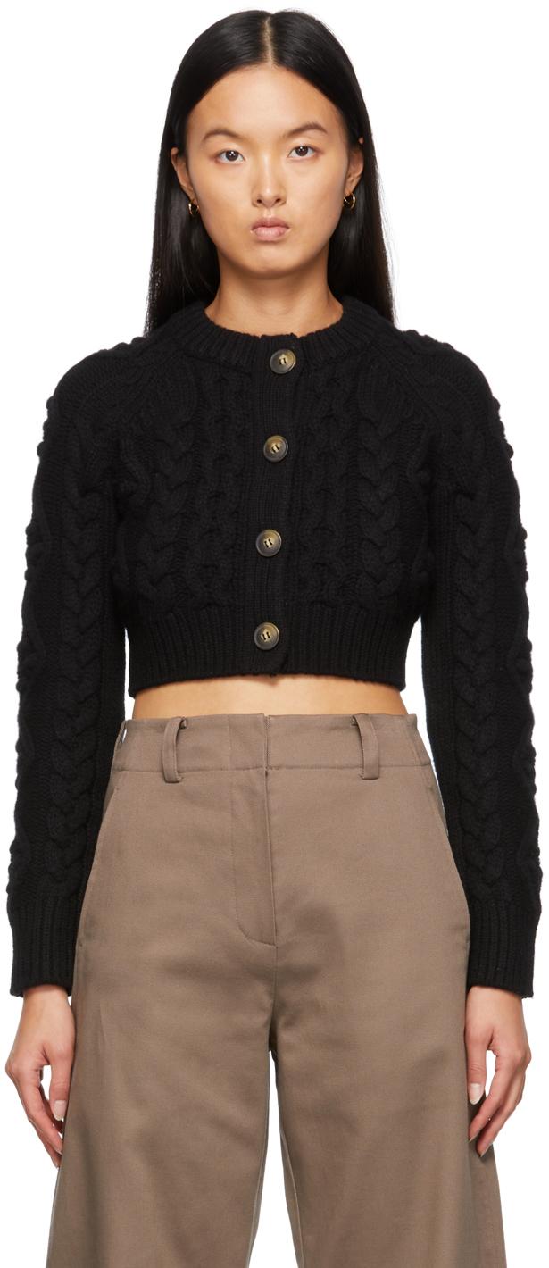 Black Abaco Cropped Cardigan