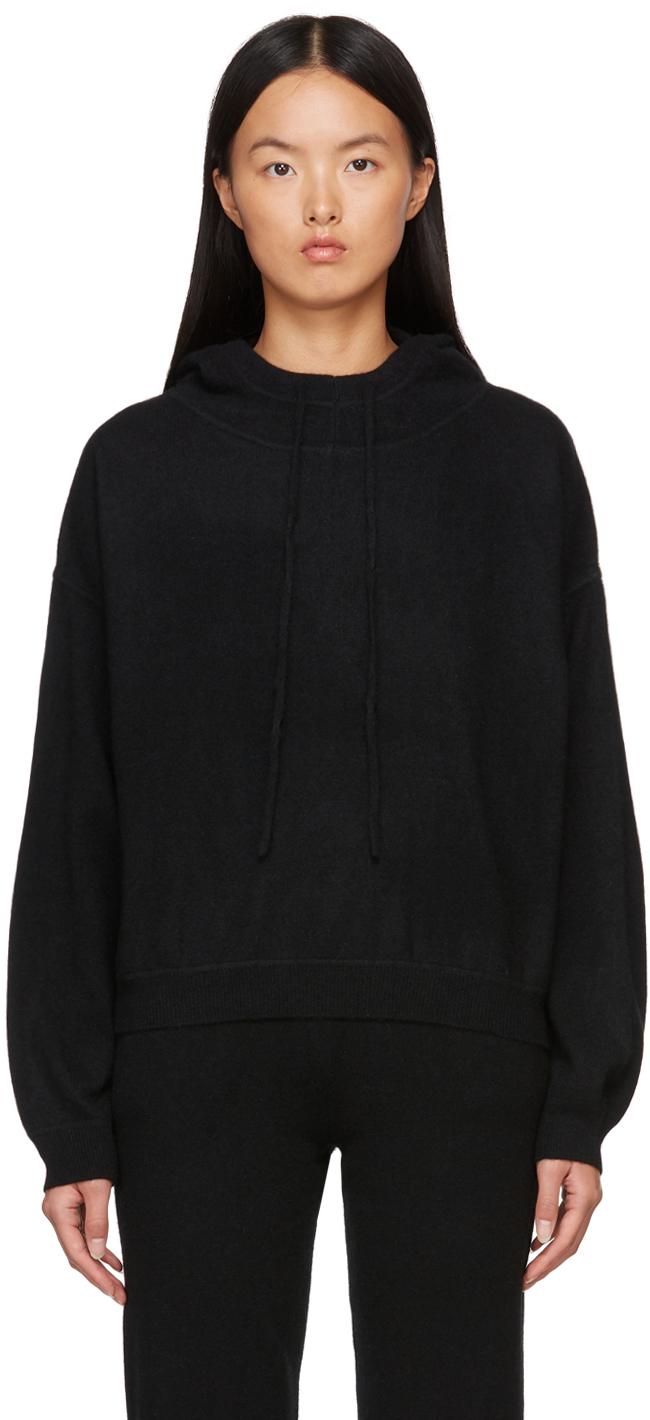 Black Linosa Cashmere Hoodie