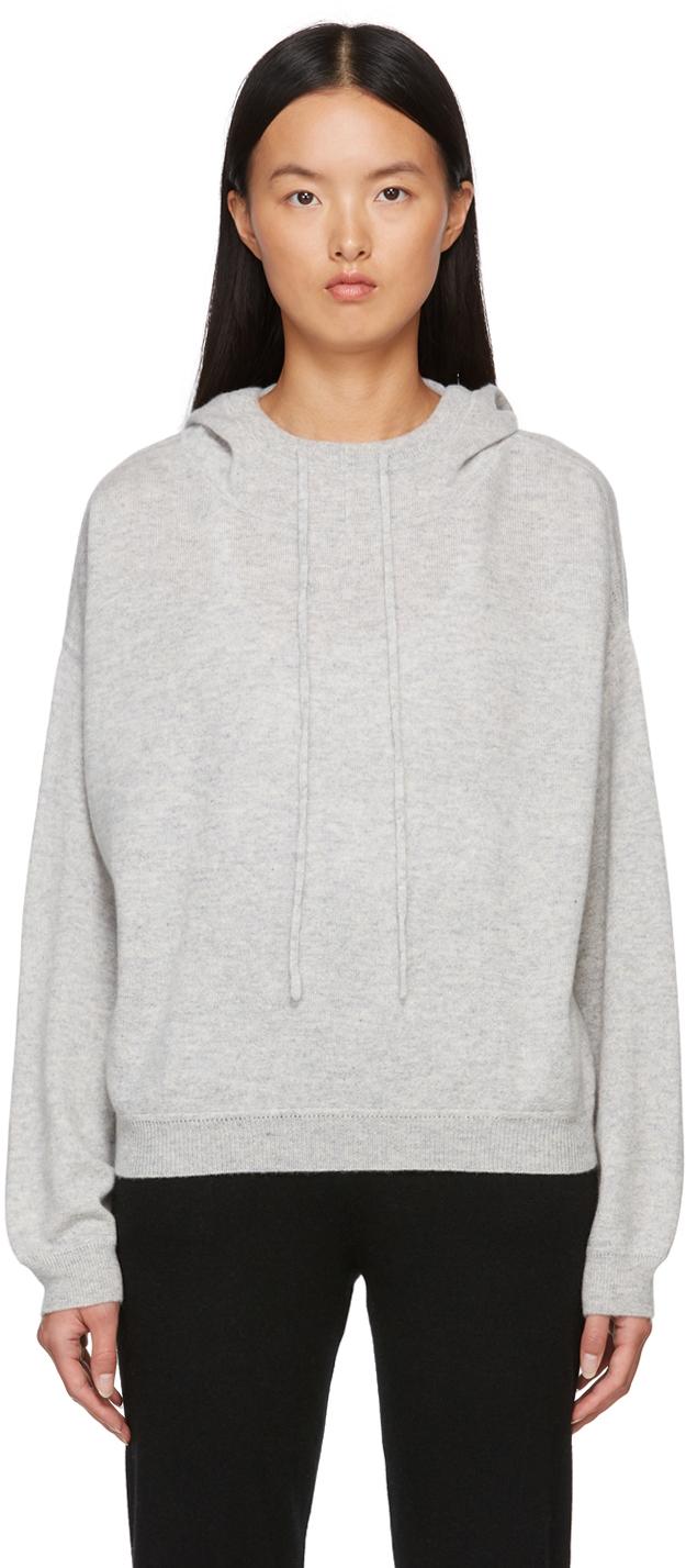 Grey Linosa Cashmere Hoodie